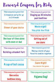 17 best ideas about reward coupons classroom reward printable reward coupons for kids