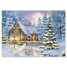 Christmas Cards Images Winter Cottage Christmas Cards Set Of 18 Current Catalog