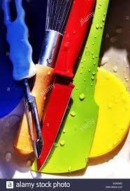 colorful kitchen utensils. Interesting Kitchen Colorful Kitchen Cooking Utensils With Water Drops To Kitchen Utensils S