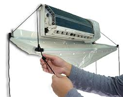 air conditioning cleaning. open type cleaning cover for split air conditioner conditioning