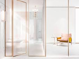 Bathroom Partition Delectable Her Bathroom Highend Luxury Paster Colours Blazed Tinted