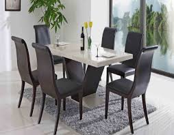 contemporary dining room set furniture modern dining room design four white dining chair large gles sliding doors the brown rug above gray floor