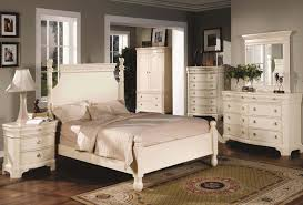Traditional Bedroom Furniture Set Design In White Washed Color F ...