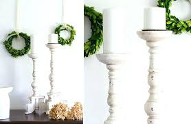full size of white wood pillar candle holders distressed holder bathrooms marvellous tall wooden set of