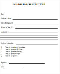 Sample Vacation Request Form Custom 48 Request For Time Off Form Samples Sample Templates