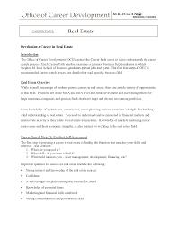 Real Estate Broker Cover Letter Sample Real Estate Agent Resume