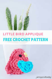 Free Crochet Applique Patterns Amazing Design Ideas
