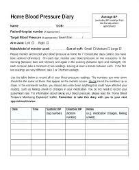 Blood Pressure Chart Template Timetoreflect Co