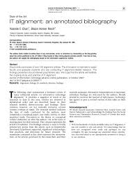 Pdf It Alignment An Annotated Bibliography