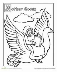 8b5a3bdcc0b7a8eecfaec08ec40f997b free printable coloring page mother goose, nursery rhymes, the on nursery rhyme printable books