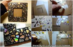 diy recycled cd mosaic photo frame
