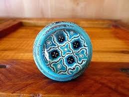 blue glass drawer pulls 1 of 4 blue glass drawer cabinet pulls knobs vintage metal