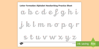 letters practice sheet letter formation alphabet handwriting practice sheet lowercase