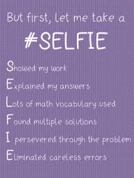Selfie Anchor Chart Acronym For Checking Work In Math