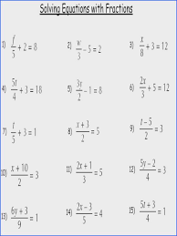 equations with fractions solving equations with fractions