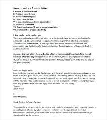 Complain Business Letter Formal Business Letter Format 7 Example Sample Complaint