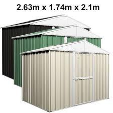 garden shed 2 63m x 1 74m x 2 1m