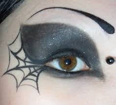 2 black touch spider eyes makeup for s