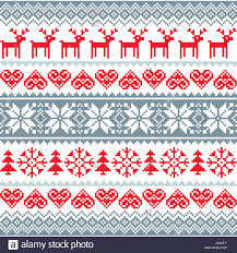 Nordic Pattern Extraordinary Winter Christmas Red And Grey Seamless Pattern Nordic Background