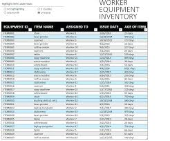 Format For Inventory List Excel Equipment Inventory List Template Excel Equipment Inventory