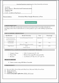 11 Unique Gallery Of Accounting Resume Format Free Download