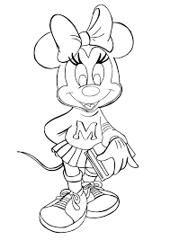 New Printable Minnie Mouse Coloring Pages Books Book Alice
