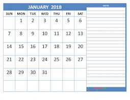calendar january 2018 template free january 2018 calendar in printable format calendar office