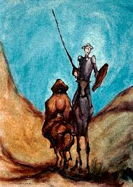 don quixote painting don quixote by kevin middleton