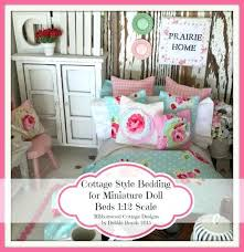 sewing pattern miniature cottage style bedding for doll beds scale color pages from on studio and