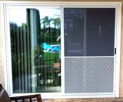 exterior door with dog built in storm pet medium size outside patio of glass do