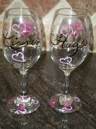 hand painted valentine wine gl by adele2kids on
