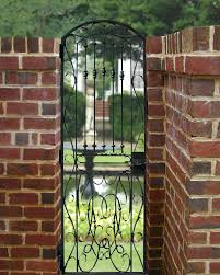 Small Picture Custom Gate Designs Iron Entrance Gates Arched Gate Garden