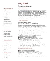 resume for restaurant restaurant manager resume template 6 free word pdf document