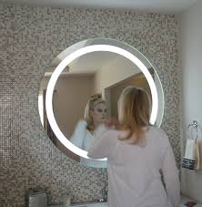 48 round mirror. Front-Lighted LED Bathroom Vanity Mirror: 48\ 48 Round Mirror