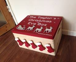 Large Wooden Boxes To Decorate Christmas eve box Large Family size decorated christmas box 29