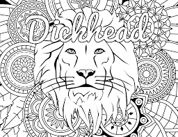 Free Printable Coloring Page Dickhead Swear
