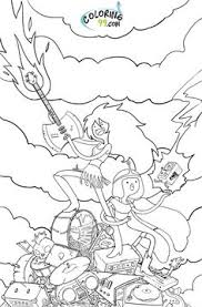 Small Picture Lady Rainicorn Coloring Pages Printable Adventure Time Lady