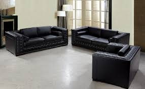 black leather sofa49