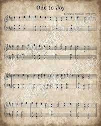 printable vintage sheet music ode to joy printable vintage sheet music instant download