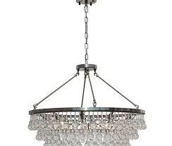 glass drop chandeliers celeste crystal chandelier brushed nickel light up my