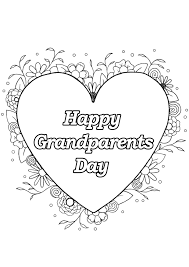 Grandparents Day 4 Gr Parents Day Adult Coloring Pages
