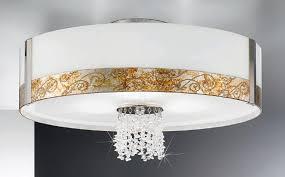emozione medici silver semi flush ceiling light kolarz lighting