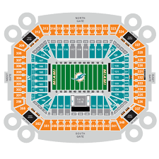 Miami Dolphins Seating Chart 2017 Dolphin Stadium Seating Chart