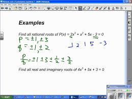 rational roots of polynomial equations wmv