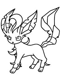 Pokemon Images Coloring Pages Eeveelutions Eevee Evolutions