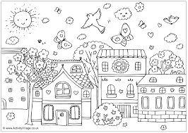 Small Picture Download Spring Scene Coloring Pages