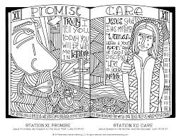 Remember how all the disciples fled and forsook him, however, he says, i. Stations Of The Cross Coloring Pages For All Ages Illustrated Ministry