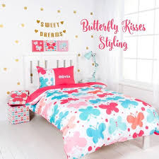 bedroom bundle 4 personalised quilt cover storage box canvas art pack erfly kisses