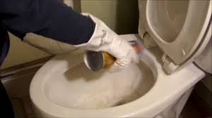 how to clean hard water stains from a toilet bowl