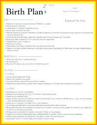 Sample Natural Birth Plan Low Intervention Birth Plan Template Cesarean C Section